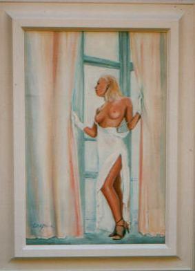 akt a figurální malba-Variace v bílém