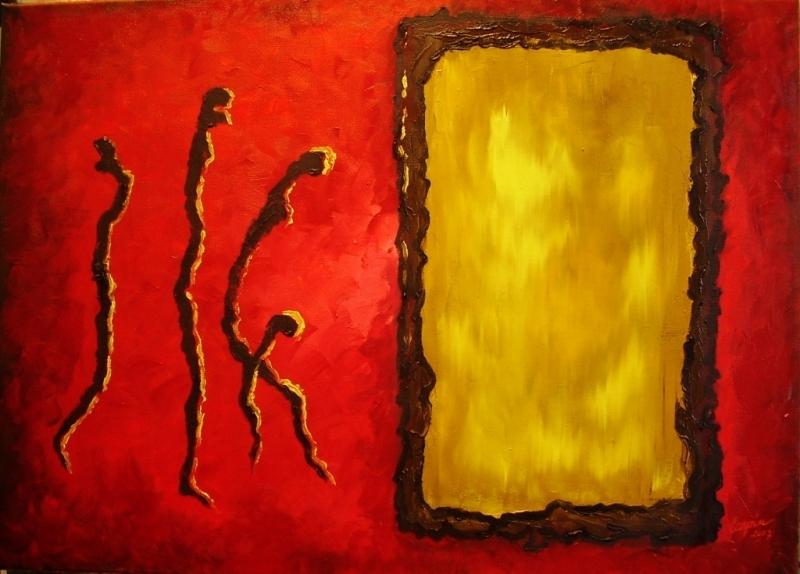 abstrakce-Útěk za sluncem