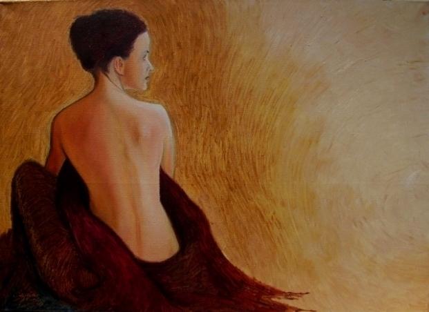 akt a figurální malba-Sensuality