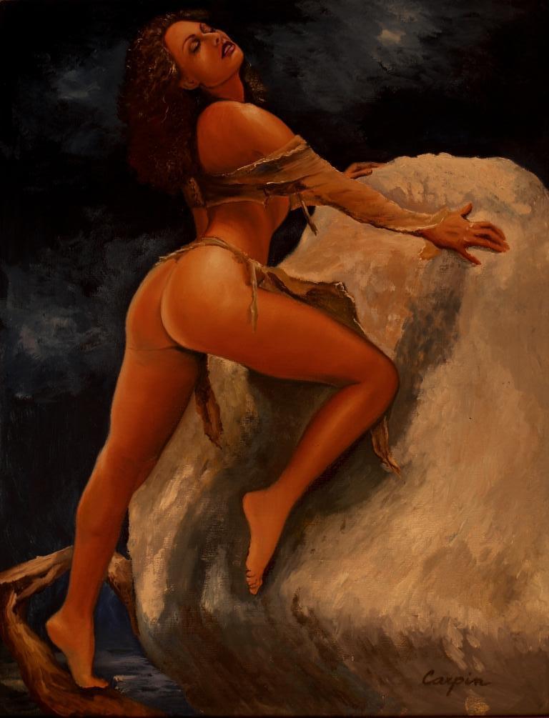 akt a figurální malba-Skála