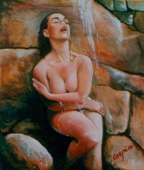 akt a figurální malba-Živá voda