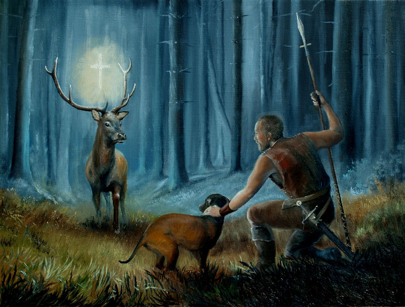 myslivost-Zjevení Svatého Huberta