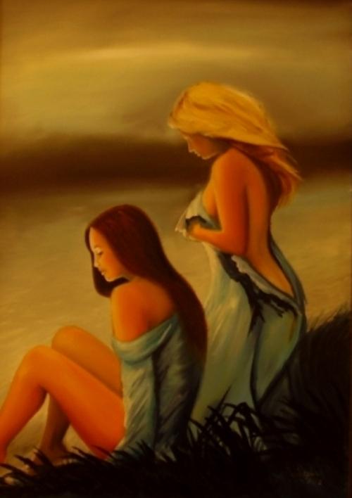 akt a figurální malba-Vodní víly