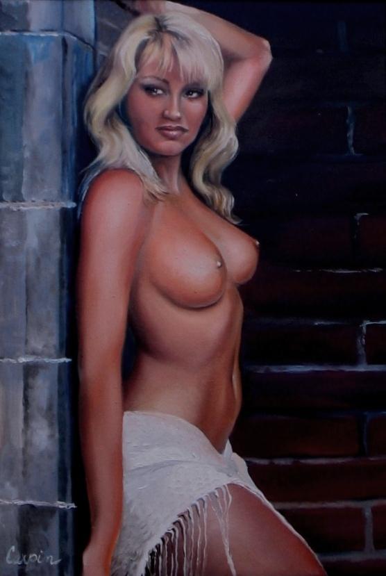 akt a figurální malba-Studená zeď