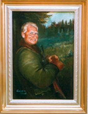 portréty myslivost-Lovecký portrét - táta