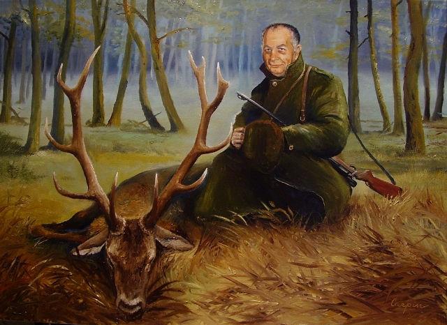 portréty myslivost-Lovecký portrét - B