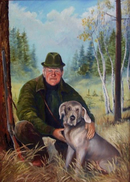 portréty myslivost-Lovecký portrét - K